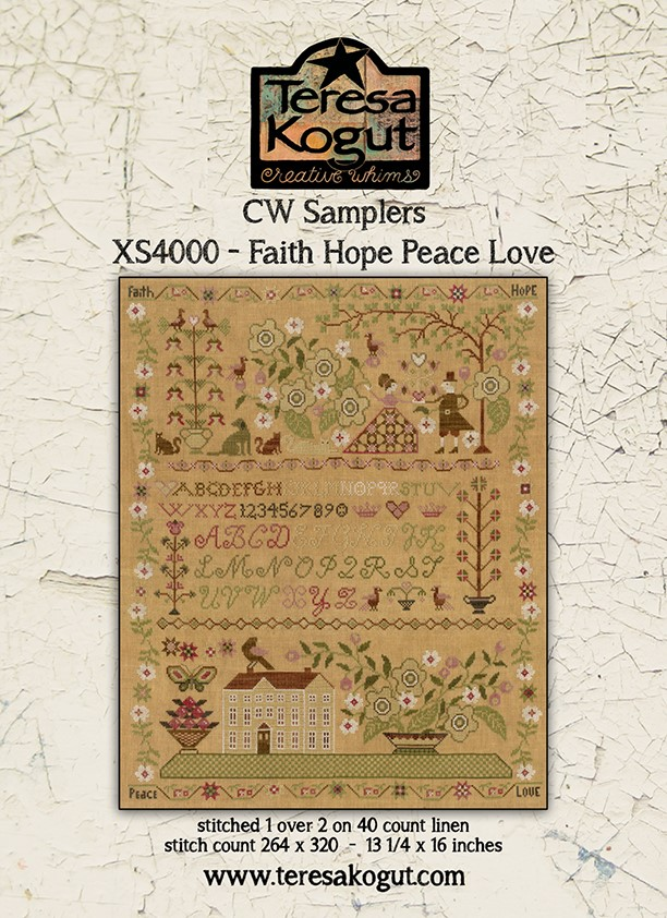 CW Samplers - Faith Hope Peace Love - Teresa Kogut