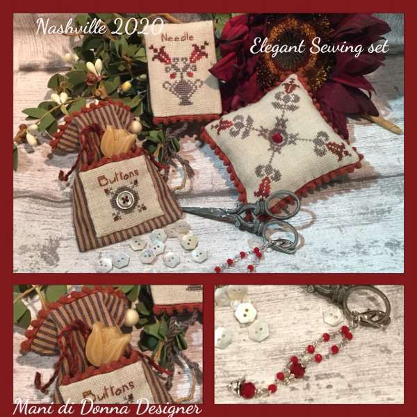 Elegant Sewing Set - Mani di Donna Designs