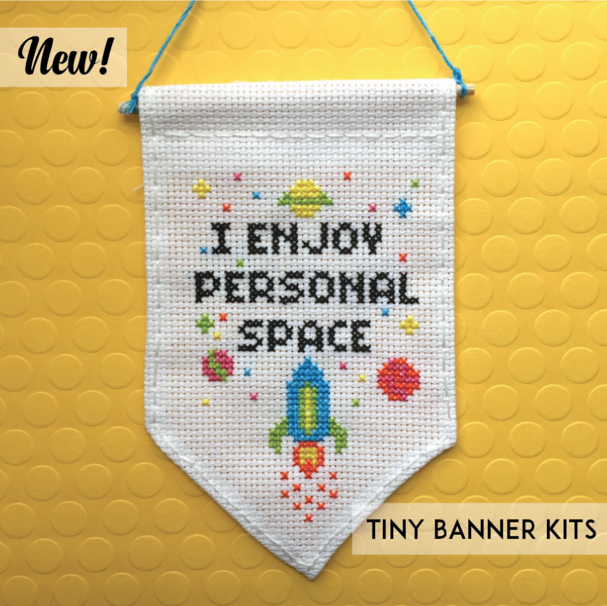 I Enjoy Personal Space - Tiny Banner Kit - Spot Colors