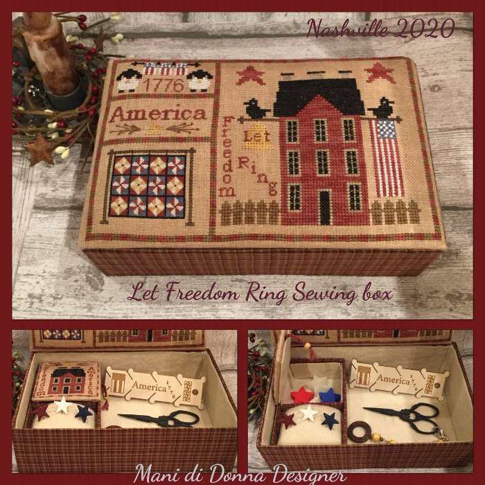 Let Freedom Ring Sewing Box - Mani di Donna Designs