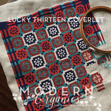 Lucky Thirteen Coverlet - Summer House Stitche Works