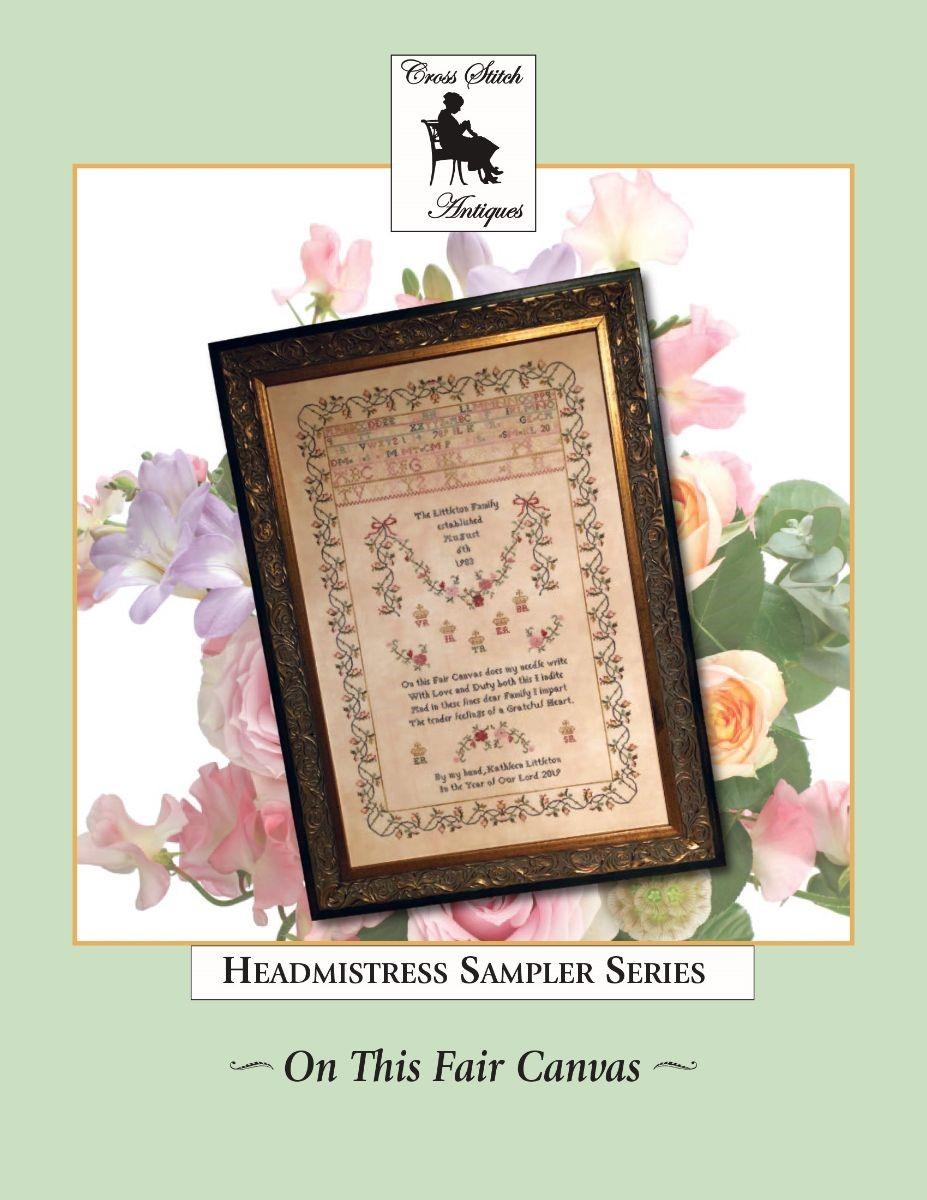On This Fair Canvas - Cross Stitch Antiques