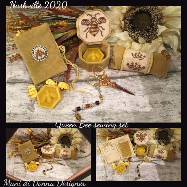Queen Bee Sewing Set - Mani di Donna Designs