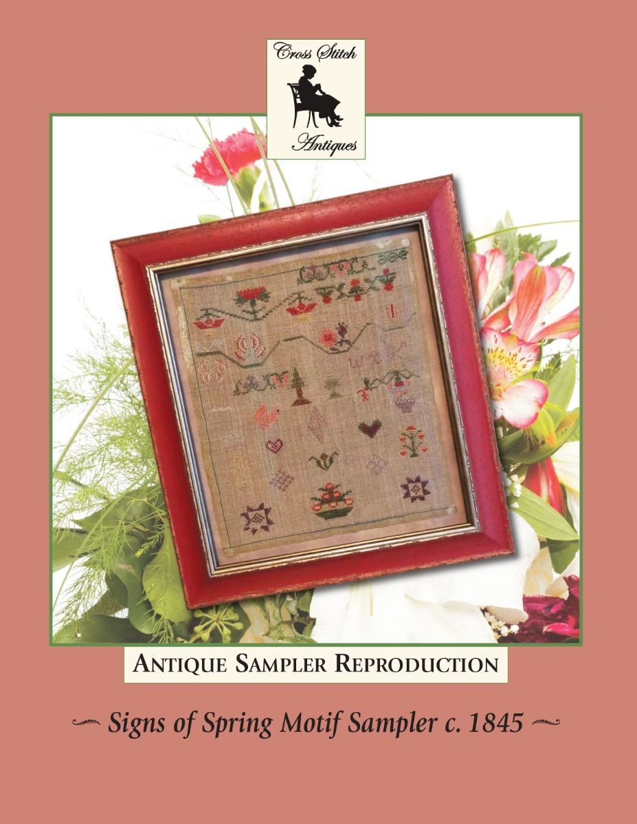 Signs of Spring Motif c. 1845 - Cross Stitch Antiques