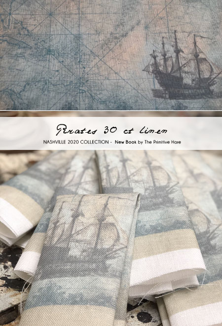 40 ct Pirates Linen - The Primitive Hare