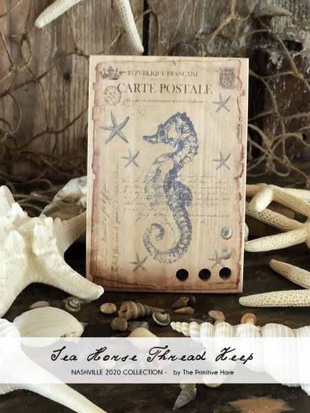 Seahorse Thread Keep - The Primitive Hare